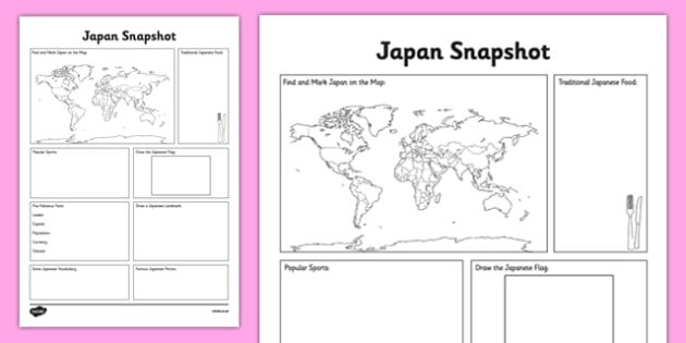 Japan Snapshot - CfE, second level, fact file, people and place, Japan