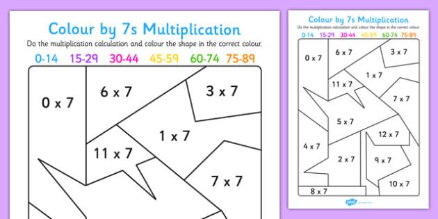 Colour by 7s multiplication activity worksheet colour 7s colour by 7s multiplication activity worksheet colour 7s multiplication activity worksheet ibookread ePUb