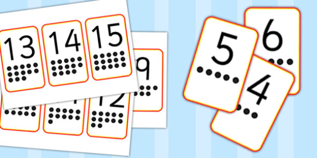 Digit Cards With Spots Ten-Frame to 20 - digit, cards, spots, ten, frame