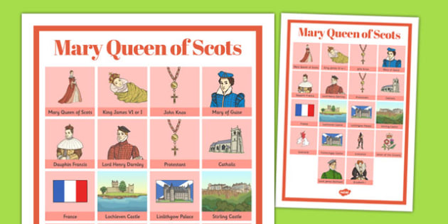 Mary Queen of Scots Vocabulary Mat - mary, scots, vocabulary, mat