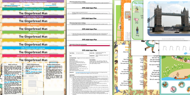 EYFS The Gingerbread Man Lesson Plan Enhancement Ideas and Resources Pack - planning