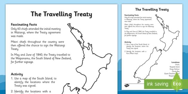 Waitangi Day Worksheet / Activity Sheet The Travelling Treaty - waitangi day, activity, sheet, travel, treaty, worksheet