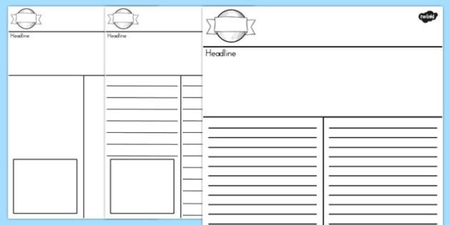 Newspaper Template - australia, newspaper, template, writing