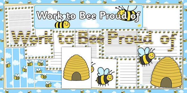 Work to Bee Proud of Display Pack - work, bee, proud, display pack