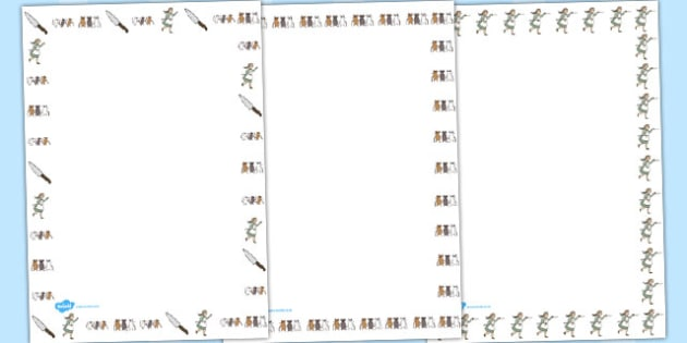 Three Blind Mice Page Borders - border, mouse, nursery, rhymes