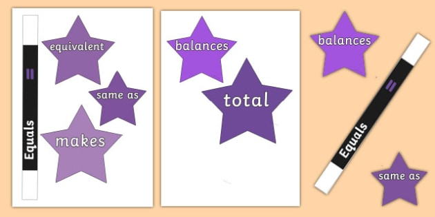 Maths Magician Vocabulary Equals Cut-Outs - maths magician, vocabulary, equals, cut outs