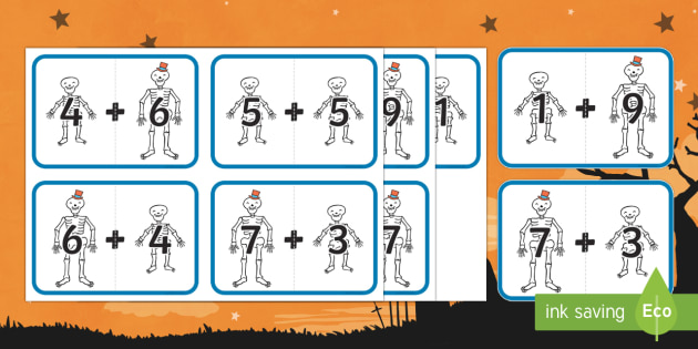 Big and Little Skeleton Number Bonds to 10