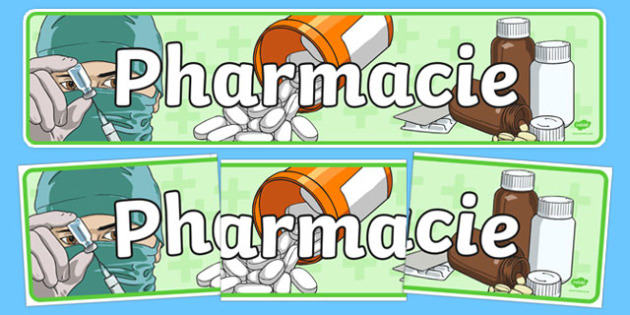 Pharmacy Role Play Display Banner French - french, doctors, roleplay, props