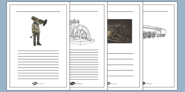 The Industrial Revolution Writing Frames - industrial revolution