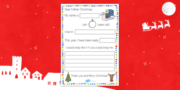 Letter to Father Christmas Procedure - letter, father christmas, procedure, letter to father christmas
