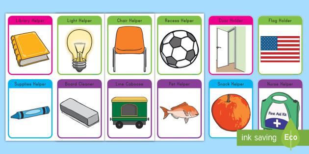 Modern Classroom Jobs ~ New editable classroom job cards early childhood