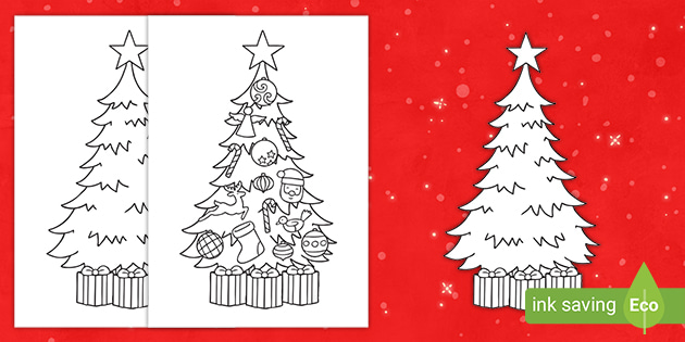 Christmas Tree Pictures To Print Template Christmas