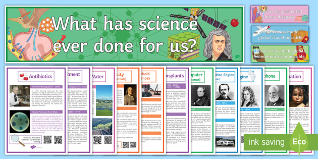 British Science Week Display Pack - British Science Week, Discoveries, Inventions