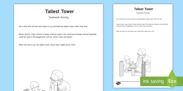 Tallest Tower Team Building Game Pe Gym Team Challenge