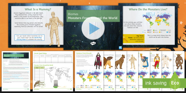 Biomes monsters from around the world lesson pack halloween biomes monsters from around the world lesson pack halloween ks3 geography gumiabroncs Gallery