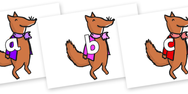 Phase 2 Phonemes on Small Fox 1 to Support Teaching on Fantastic Mr Fox - Phonemes, phoneme, Phase 2, Phase two, Foundation, Literacy, Letters and Sounds, DfES, display