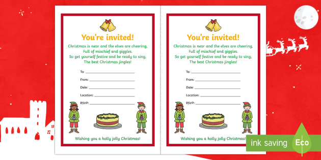 Christmas party invitation activity solutioingenieria Image collections
