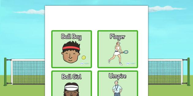Wimbledon Badges - wimbledon, wimbledon tournament, wimbledon role play badges, wimbledon role badges, ball boy badge, player badge, umpire badge, tennis