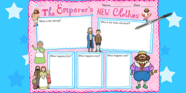 The Emperor\'s New Clothes Book Review Writing Frame - writing