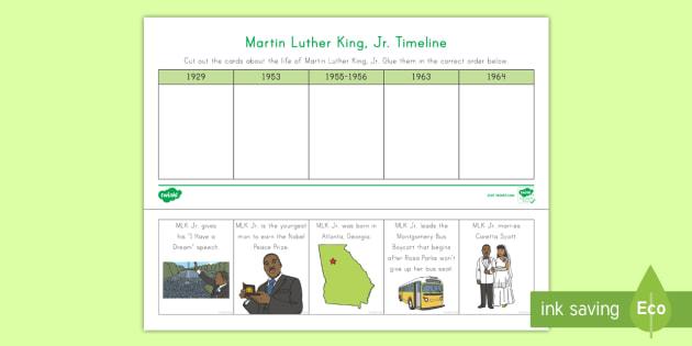Martin Luther King Jr Timeline Worksheet Worksheet Civil Rights
