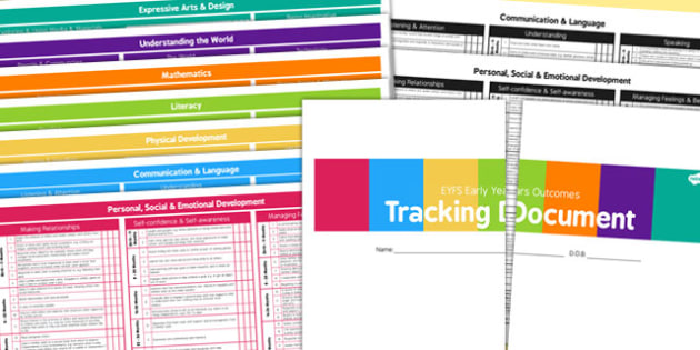 EYFS Development Record Tracking Document for 3 Terms - tracking