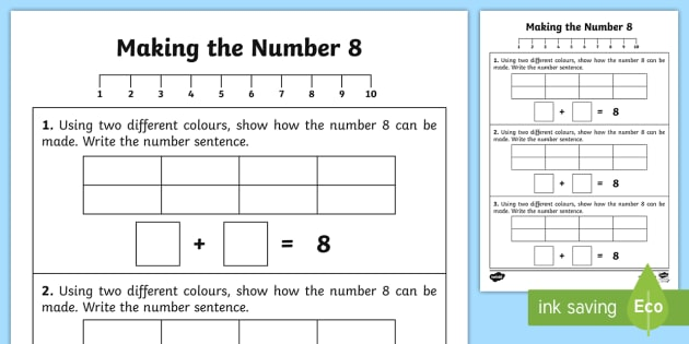 Ways of making 5 Worksheet / Activity Sheet - worksheet, number