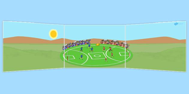 AFL Australian Football League Football Small World Background