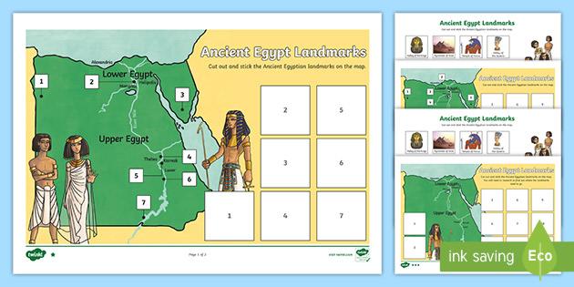 Ancient Egypt Map Worksheet Teacher Made Twinkl