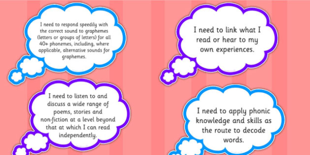 2014 Curriculum Year 1 English Reading Assessment I Need to