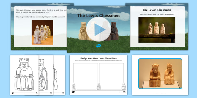 The Lewis Chessmen Resource Pack - CfE Expressive Arts, Lewis, Vikings, social subjects, people in the past, past societies, sculpture,