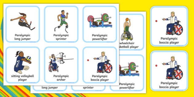Rio 2016 Paralympic Sporting Events Playing Cards