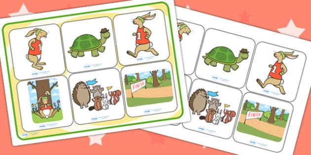 The Tortoise and The Hare SEN Matching Mat - SEN mat, stories