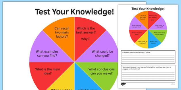 KS3 Bloom's Taxonomy Peer Assessment Wheel Remembering Create Questions - ks3, blooms taxonomy, peer assessment