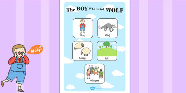 The Boy Who Cried Wolf Vocabulary Poster - vocab poster, stories