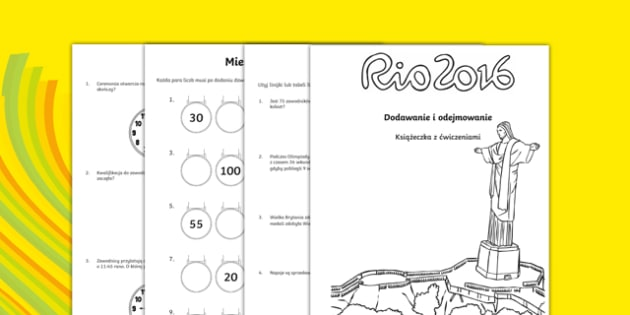 Year 2 Addition Rio Olympics Addition and Subtraction Activity booklet Polish - Year 2, challenges, problem, solve, reason, predict, word problem, add, addition, plus, total, altogether, sum of, greater than, more than, subtract, subtraction, minus,