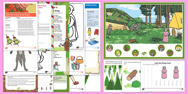 EYFS Little Red Riding Hood Resource Pack - Little Red Riding Hood, big bag wold, grandma, woodcutter, childminding, child minder, traditional t