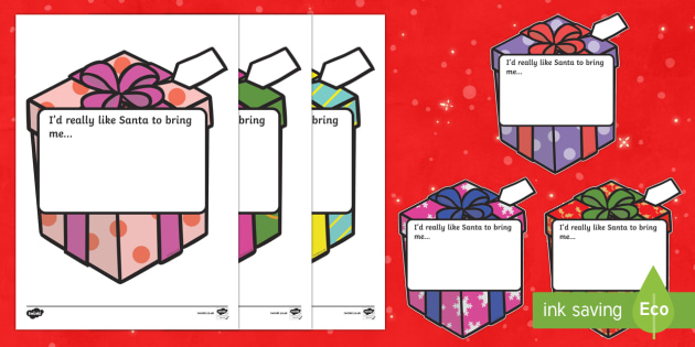My Special Present Writing Frame Cut-outs - Christmas, xmas, present, what I want, writing aid, writing activity, presents, tree, advent, nativity, santa, father christmas, Jesus, tree, stocking, present, activity, cracker, angel, snowman, advent , b