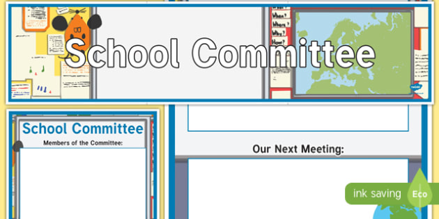 School Committee Display Banner and Poster - school committee, display banner, display, banner