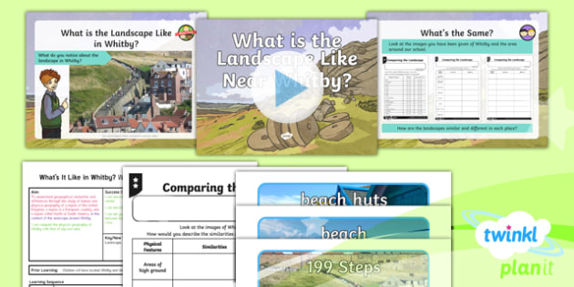 Geography: What's It Like in Whitby?: What Is the Landscape Like Near Whitby? Year 4 Lesson Pack 2