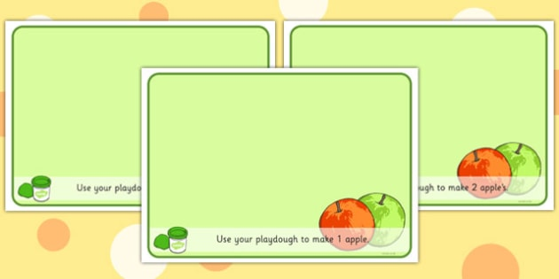 Basic Counting Apples Playdough Mats - counting playdough mats, apples playdough mats, numeracy playdough mats, maths playdough mats, sen, play doh, food