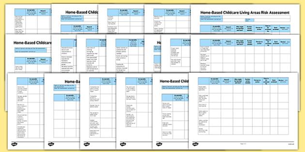 Childminder Home-Based Childcare Risk Assessment Pack