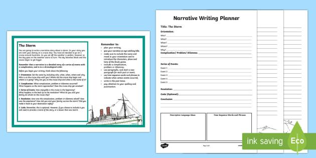 Year 5 Narrative Writing   Writing Worksheet / Activity Sheet-Australia