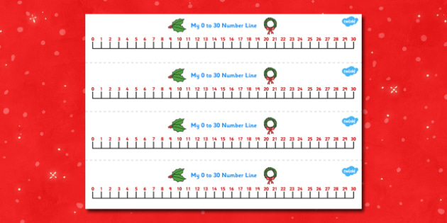 Christmas Number Line (0-30) - Christmas, xmas, Maths, Math, numberline, numberline display, tree, advent, nativity, santa, father christmas, Jesus, tree, stocking, present, activity, cracker, angel, snowman, advent , bauble, display, poster, Countin