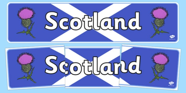 Scotland Display Banner - Scotland, Scottish, Thistle, display, banner, sign, poster