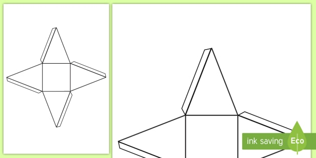 This is a picture of Geometry Net Printable pertaining to tetrahedron