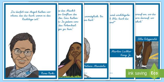 Zitate von wichtigen schwarzen Persönlichkeiten Poster für die
