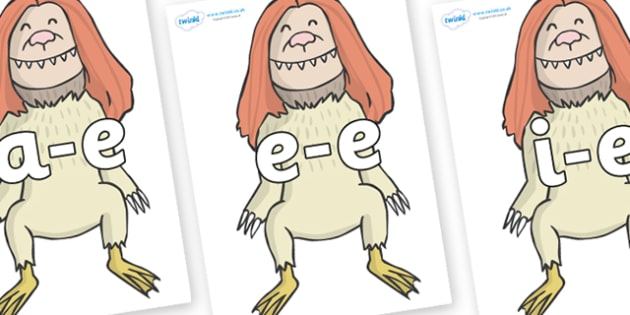 Modifying E Letters on Wild Thing (2) to Support Teaching on Where the Wild Things Are - Modifying E, letters, modify, Phase 5, Phase five, alternative spellings for phonemes, DfES letters and Sounds