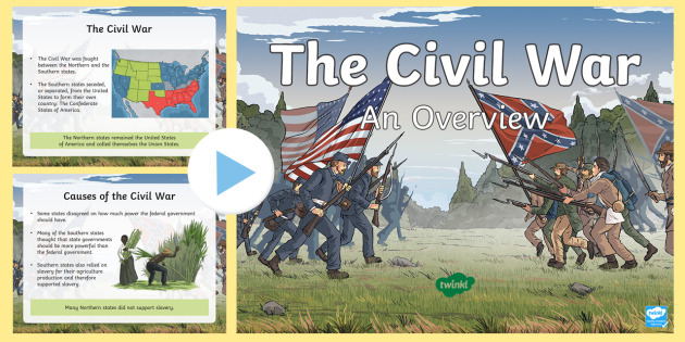 New Civil War Overview Powerpoint United States History Grades 3 5