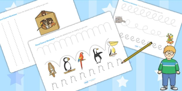 Pencil Control Sheets to Support Teaching on The Great Pet Sale - pet, fine motor skills