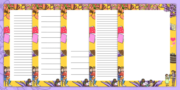 Mothers Day Decorative Page Border - mothers day, page border